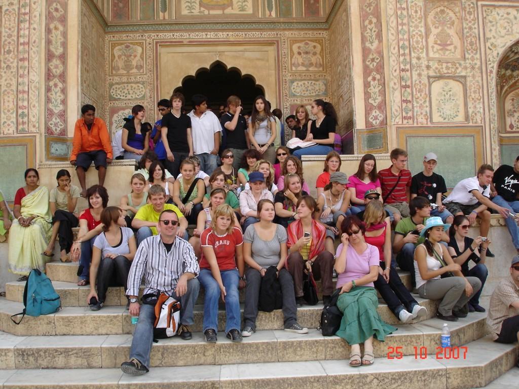 Indien 2007 Am Maharadjapalast in Jaipur