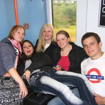 Zugfahrt nach Stansted