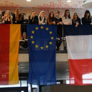 Ein Bild vom Besuch der französischen Delegation im März 2017 am LMG.
