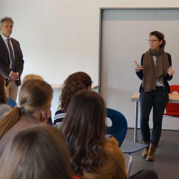Landtagsabgeordnete Jutta Niemann (Bündnis 90/Die Grünen) zu Gast am Lise-Meitner-Gymnasium in Crailsheim